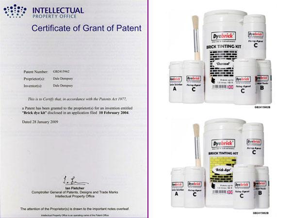 Brick Dye Patent