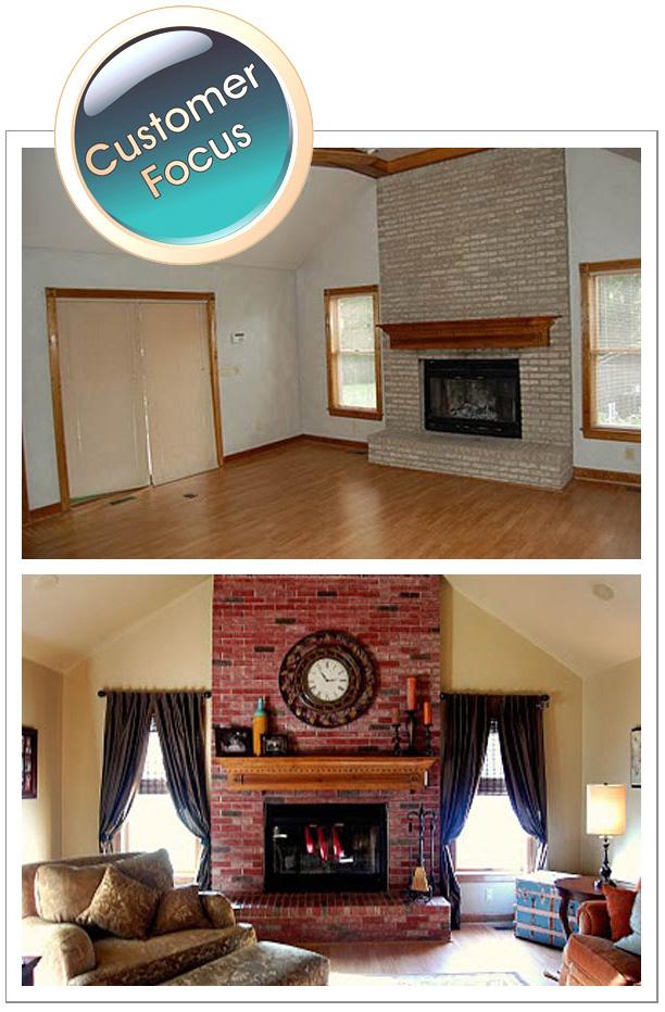 Staining Brick Fireplace