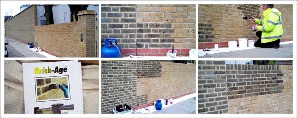 Hotham School Wall - Brick Ageing