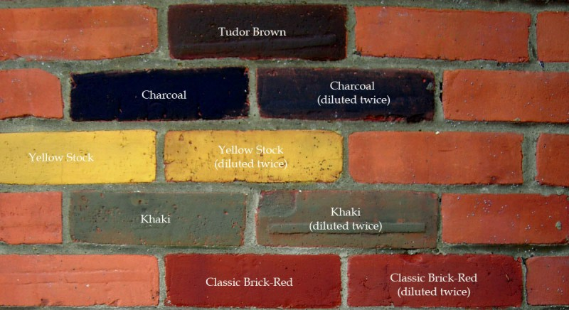Dyebrick applied to porous orange brick